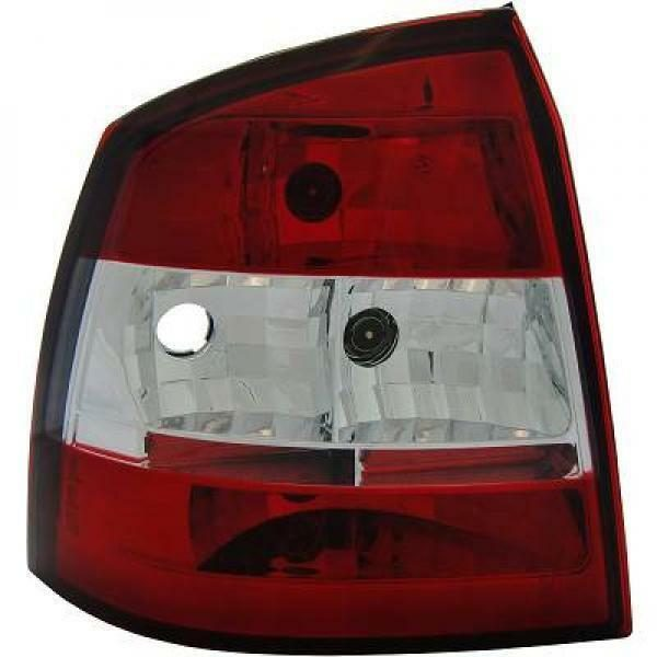 Back Rear Tail Lights Pair Set Clear Red White For Vauxhall Astra G 3/5 Door