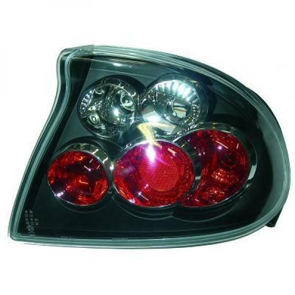 Back Rear Tail Lights Pair Set Clear Black For Vauxhall Tigra 94-00