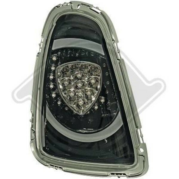 Back Rear Tail Lights Pair Set LED Clear Black For Mini One Cooper 06-10