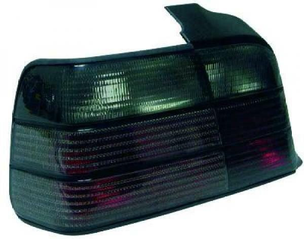 Back Rear Tail Lights Pair Set Black For BMW 3 Series E36 Saloon 90-99