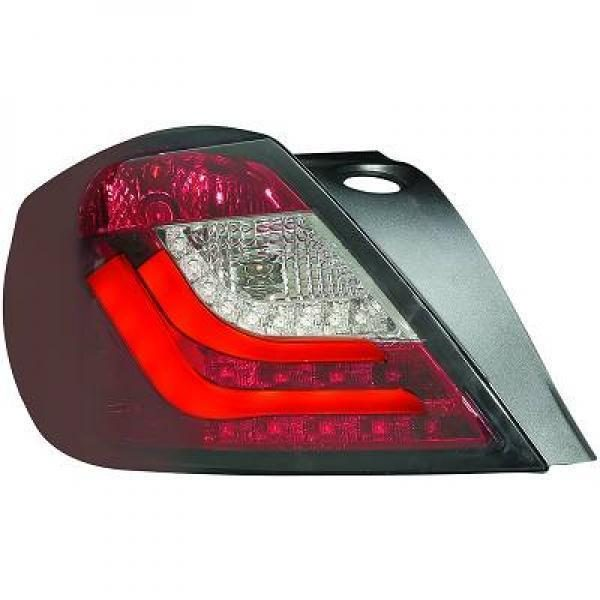 Back Rear Tail Lights Pair Set Clear Red Smoke For Vauxhall Astra H 3 door 04-09