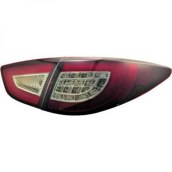 Back Rear Tail Lights Pair Set LED Clear Red Black For Hyundai IX 35 10-13