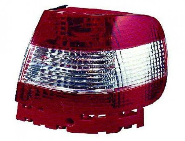 Back Rear Tail Lights Pair Set Crystal Red White For Audi A4 Saloon Avant 94-98