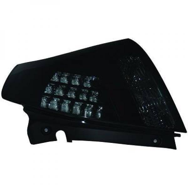 Back Rear Tail Lights Pair Set LED Clear Smoke Black For Suzuki Swift 05-10