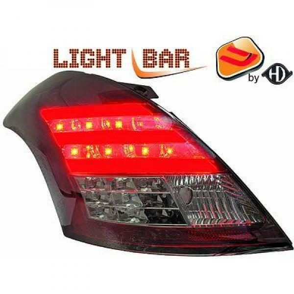 Back Rear Tail Lights Pair Set Clear Red Smoke For Suzuki Swift 10-13
