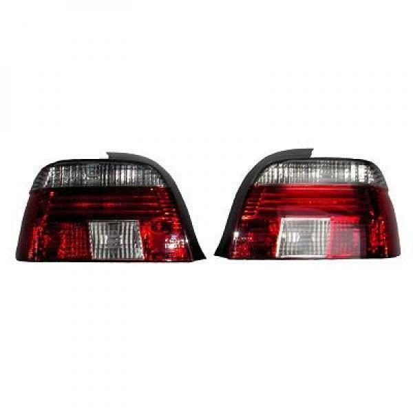 Back Rear Tail Lights Pair Set Crystal Clear Red White For BMW E39 95-00