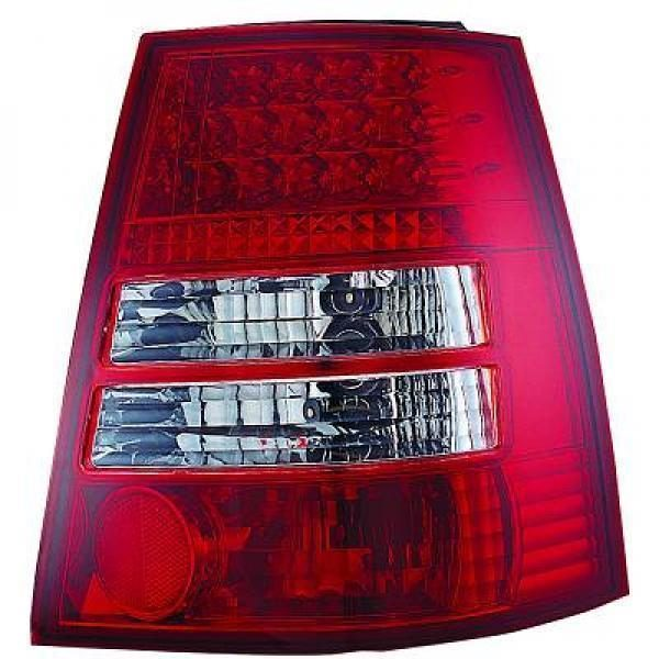 Back Rear Tail Lights Pair Set LED Clear Red White For VW Bora 98-05