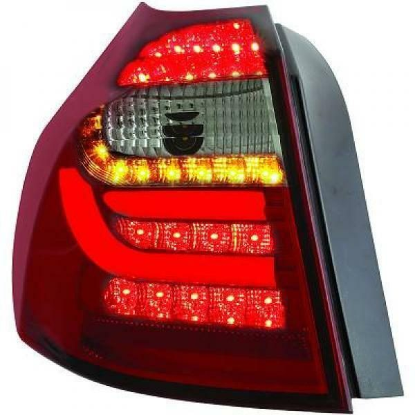 Back Rear Tail Lights Pair Set Clear Red Black For BMW E81 E87 04-11