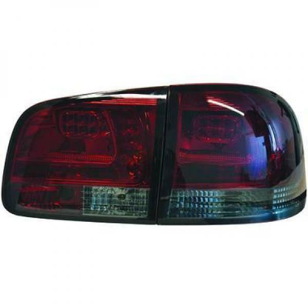 Back Rear Tail Lights Pair Set LED Clear Red Black For VW Touareg 02-10