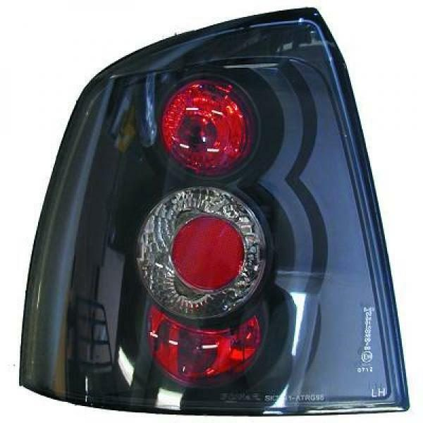 Back Rear Tail Lights Pair Set Clear Black For Vauxhall Astra G 3/5 Door 97-04