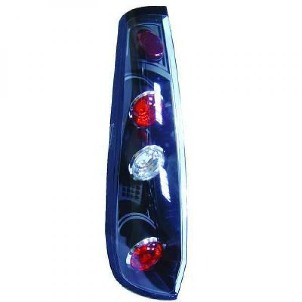 Back Rear Tail Lights Pair Set Clear Black For Ford Fiesta 02-05 3 door
