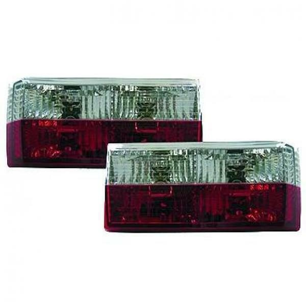 Back Rear Tail Lights Pair Set Crystal Red Chrome For VW Golf I 17 155 74-93