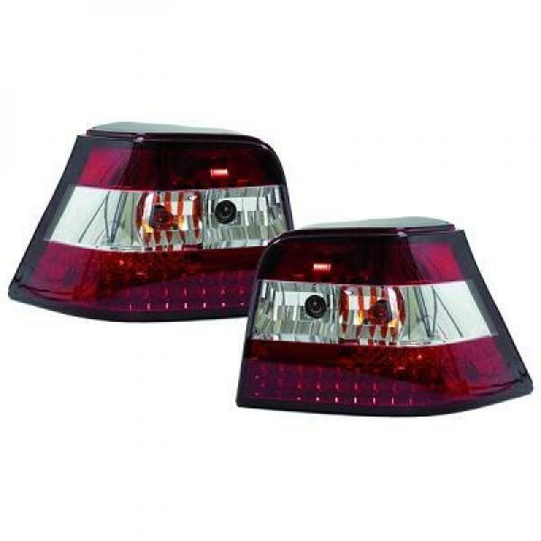 Back Rear Tail Lights Pair Set LED Clear Red White For VW Golf IV 97-03