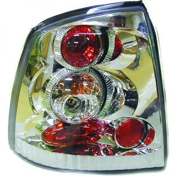 Back Rear Tail Lights Pair Set Clear Chrome For Vauxhall Astra G 97-04 hatch