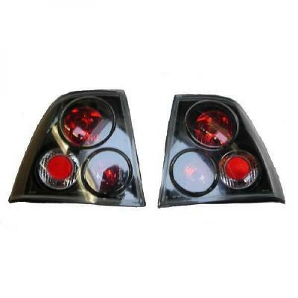 Back Rear Tail Lights Pair Set Clear Black For Vauxhall Vectra B Saloon 99-02
