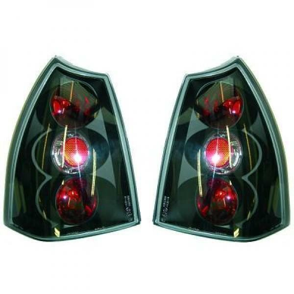 Back Rear Tail Lights Pair Set Clear Black For Peugeot 307 Saloon SW 01-05