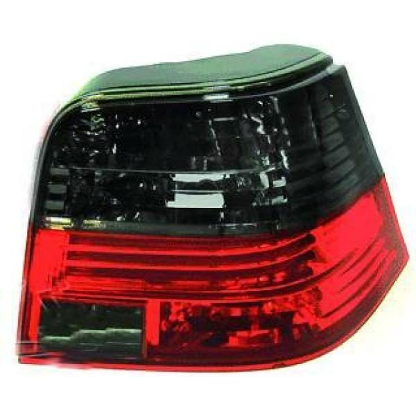 Back Rear Tail Lights Pair Set Clear Red Black For VW Golf IV 97-03
