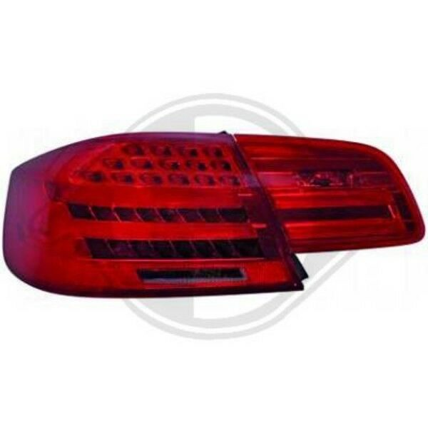 Back Rear Tail Lights Pair Set LED Clear Red Grey For BMW E92 93 06-10