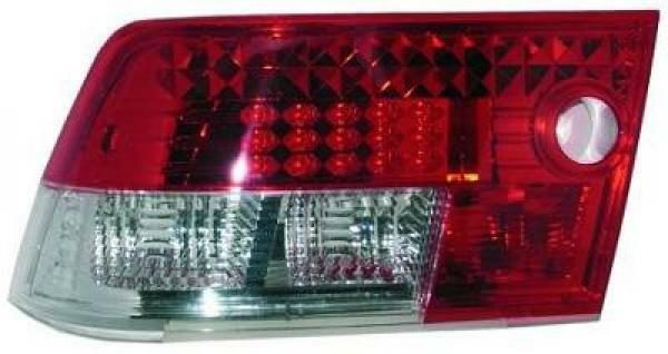 Back Rear Tail Lights Pair Set LED Clear Red White For Vauxhall Calibra 90-97