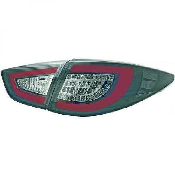 Back Rear Tail Lights Pair Set LED Clear Smoke Black For Hyundai IX 35 10-13