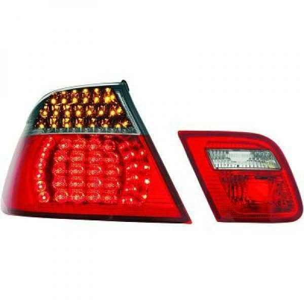 Back Rear Tail Lights Pair Set LED Clear Red Black For BMW E46 Cabrio 99-03