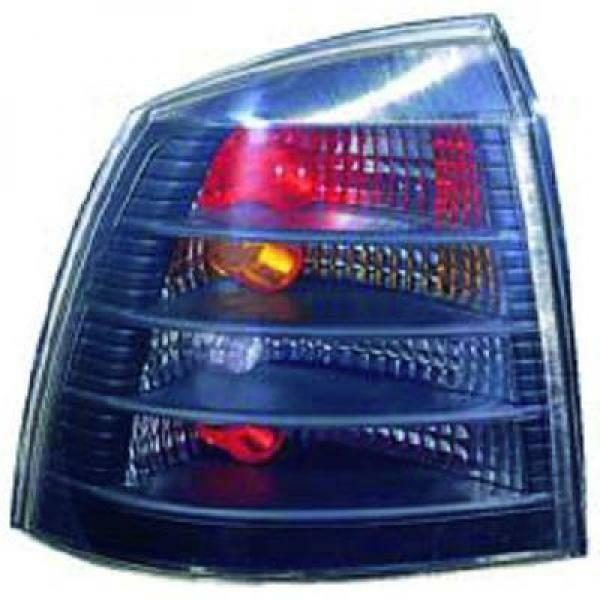 Back Rear Tail Lights Pair Set Clear Black For Vauxhall Astra G 97-04