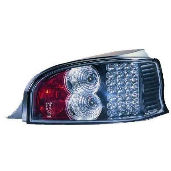 Back Rear Tail Lights Pair Set LED Clear Black For Citroen Saxo 96-99
