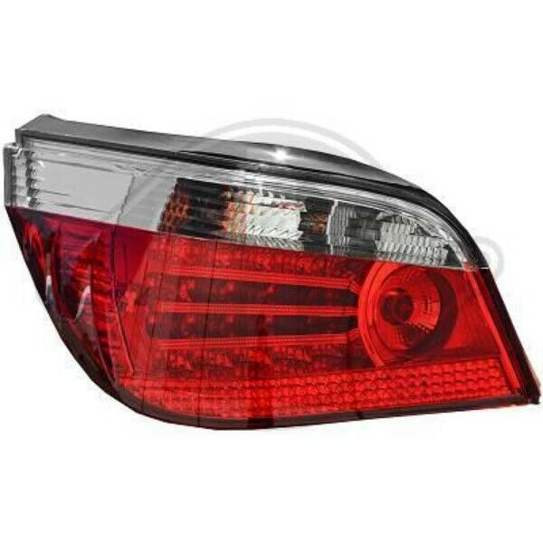 Back Rear Tail Lights Pair Set LED Red Chrome For BMW 5 Series E60 61 03-07
