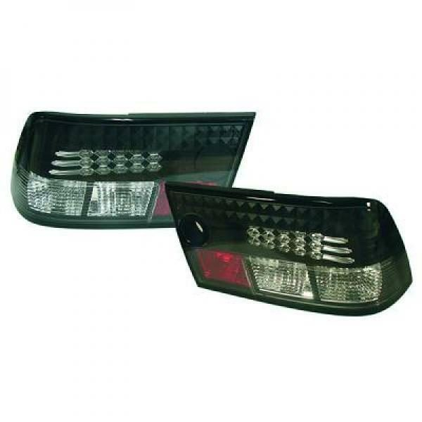 Back Rear Tail Lights Pair Set LED Clear Black For Vauxhall Calibra 90-97