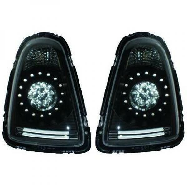Back Rear Tail Lights Pair Set Clear Black For Mini One Cooper Clubman R56