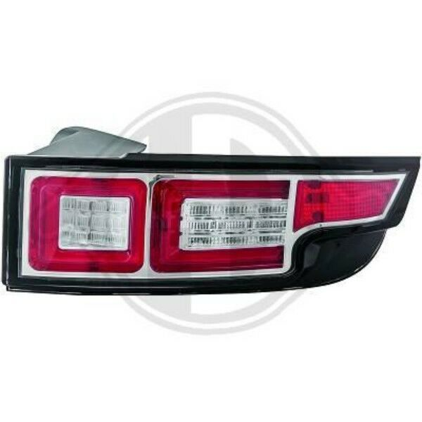 Back Rear Tail Lights Pair Set LED Clear Chrome For Land Rover Evoque 10-On