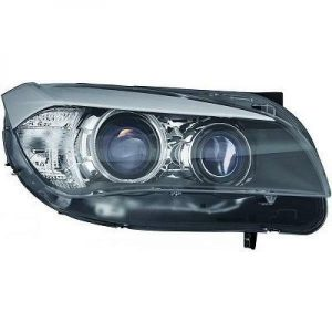 LHD Projector Headlights Pair Angel Eyes Clear Black For BMW X1 E84 09-12