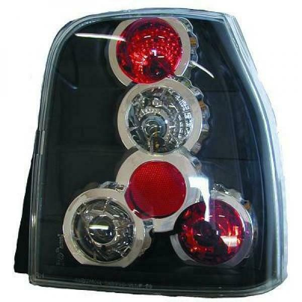 Back Rear Tail Lights Pair Set Clear Black For Seat Arosa Typ 6H 97-00