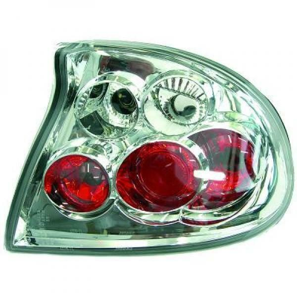 Back Rear Tail Lights Pair Set Clear Chrome For Vauxhall Tigra 94-00
