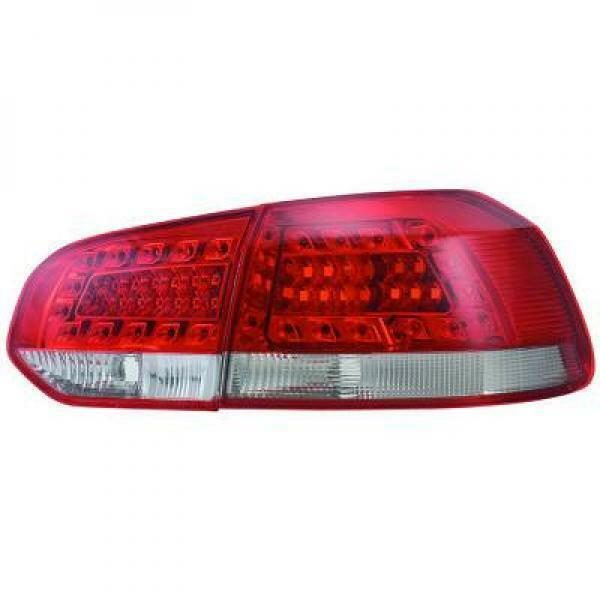 Back Rear Tail Lights Pair Set LED Clear Red White For VW Golf 6 08-12