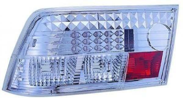 Back Rear Tail Lights Pair Set LED Clear Chrome For Vauxhall Calibra 90-97