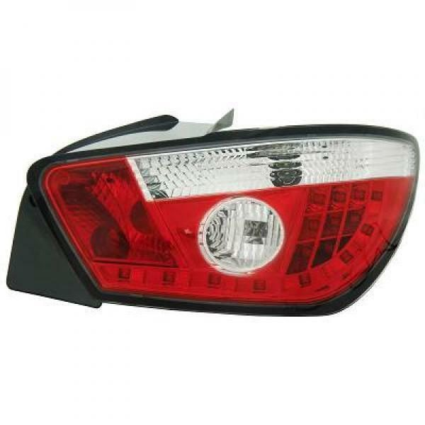 Back Rear Tail Lights Pair Set LED Clear Red White For Seat Ibiza 08-12