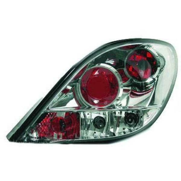 Back Rear Tail Lights Pair Set Clear Chrome For Peugeot 207 06-12