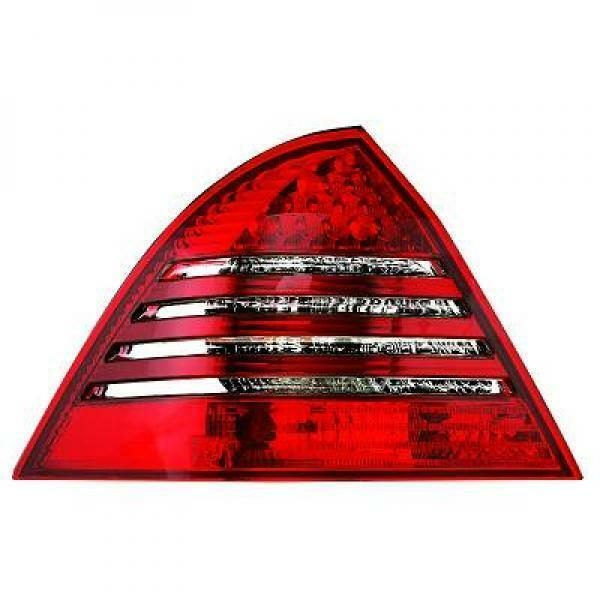 Back Rear Tail Lights Pair Set LED Clear Red White For Mercedes W203 Saloon