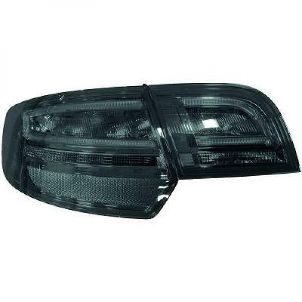 Back Rear Tail Lights Pair Set LED Smoke For Audi A3 03-08