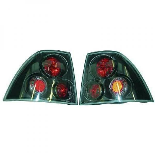 Back Rear Tail Lights Pair Set Clear Black For Vauxhall Vectra B 95-98