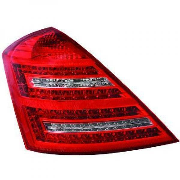 Back Rear Tail Lights Pair Set LED Clear Red White For Mercedes W221 05-11