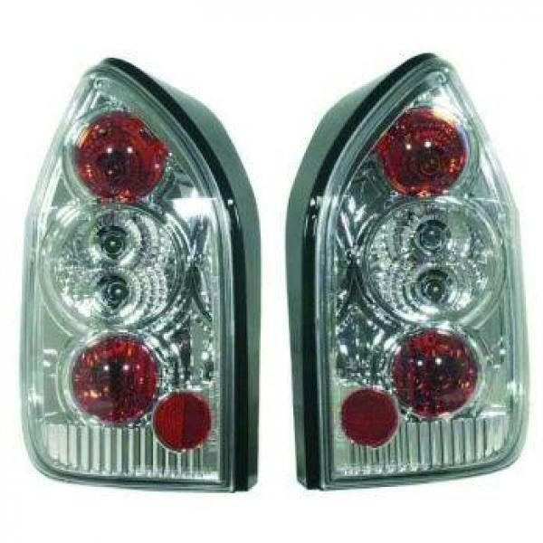 Back Rear Tail Lights Pair Set Clear Chrome For Vauxhall Zafira 99-05