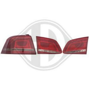 Back Rear Tail Lights Pair Set LED Clear Smoke Red For VW Passat 10-On