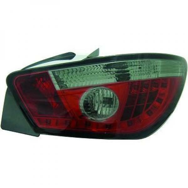 Back Rear Tail Lights Pair Set LED Clear Red Black For Seat Ibiza 08-12