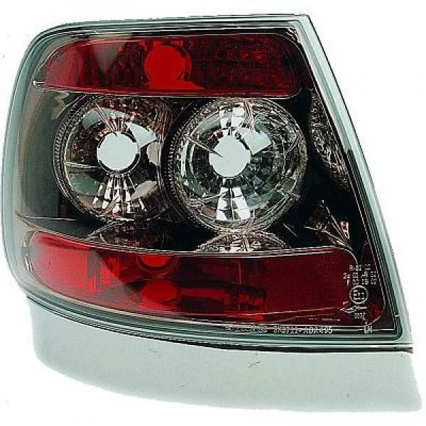 Back Rear Tail Lights Pair Set Clear Black For Audi A4 Saloon Avant 94-98