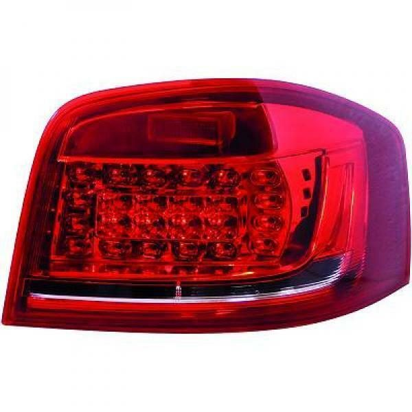 Back Rear Tail Lights Pair Set LED Red White For Audi A3 3 door 08-12 8P1