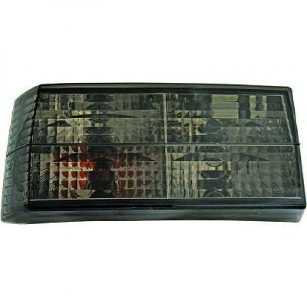 Back Rear Tail Lights Pair Set Crystal Black For VW Golf I 17 155 74-93