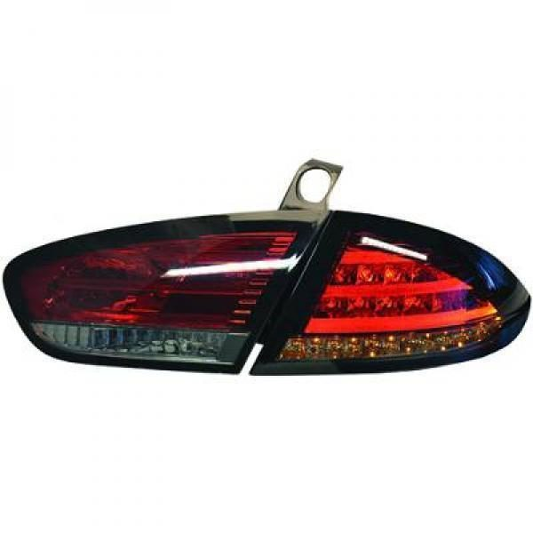 Back Rear Tail Lights Pair Set LED Clear Red Black For Seat Toledo Altea 09-On