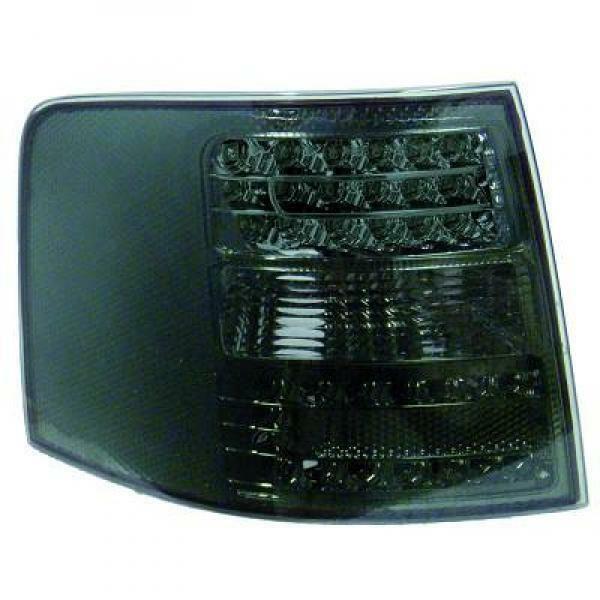 Back Rear Tail Lights Pair Set LED Clear Black For Audi A6 Typ 4B Avant 01-04